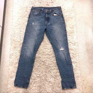 Levis 501 30x30 Distressed jeans